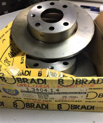 Opel Corsa A Kadett D E 2x Dischi Freno Bradi 1340414 OE 569028