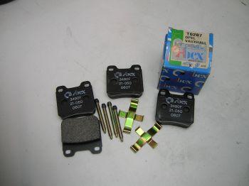 Brake pads Rear ABEX T6287 (Adapt. WVA21050) Opel omega