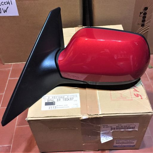 Mazda 3 2003-2008 Specchietto Specchio Meccanico Destro Rosso ORIGINALE