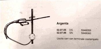 Alza cristalli Anteriore DX elettrico Fiat Argenta (or.5948059)