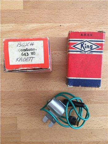 Condensatore accensione Opel Kadett King 643 V8