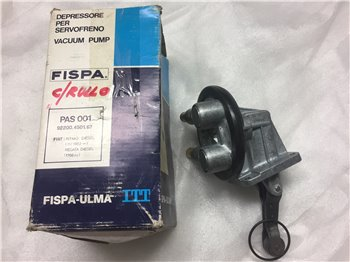 Pompa Vuoto Depressore Servofreno Fiat Rimo Regata originale Fispa Fiat