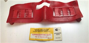 Copriradiatore Gomma Rosso Fiat 131 e Fiat 131 GL - 451