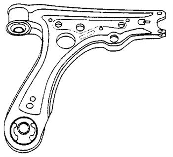 Braccio Oscillante Sospensione Anteriore DX/SX Volkswagen VW Polo - 6N0407151