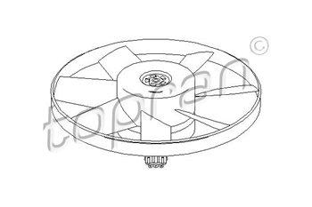 Ventola Raffreddamento 8 pale 2 poli 300w Audi A4 Ford Galaxy 8D0959455C