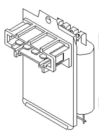 Resistenza per Motorino Elettroventola con AC Volkswagen 701959263A
