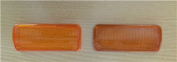 FORD ESCORT - PAIR OF PLASTIC FRONT LIGHTS
