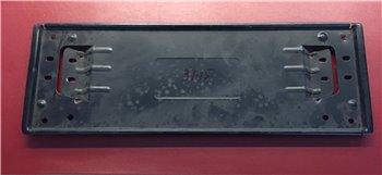 Portatarga Anteriore in Metallo Nero Opel TT Alfa Romeo 36,5x12.5 cm 35.015