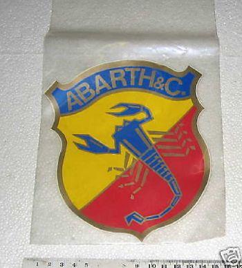 ABARTH - ADESIVO CON SCRITTA 14 cm