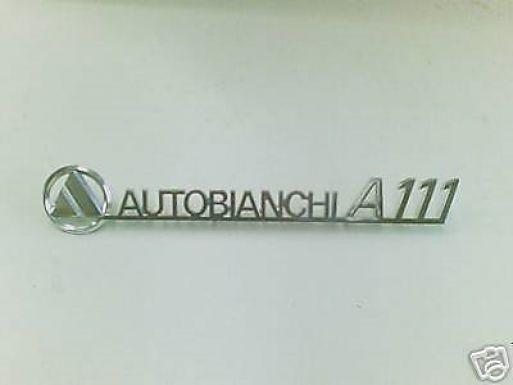 AUTOBIANCHI A111 - LOGO POSTERIORE