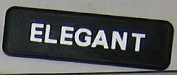 AUTOBIANCHI A112 ELEGANT - LOGO POSTERIORE