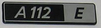 AUTOBIANCHI A112/E - LOGO POSTERIORE