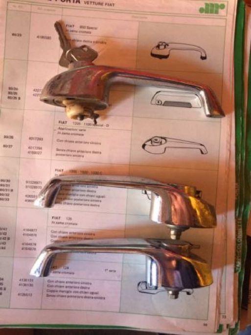 FIAT 1200 - MANIGLIA ANTERIORE SINISTRO CON CHIAVE