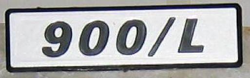 FIAT 127 900 L - LOGO POSTERIORE