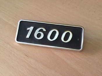 FIAT 131 - LOGO POSTERIORE IN METALLO CON SCRITTA 1600