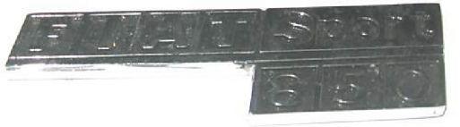 FIAT 850 - LOGO POSTERIORE