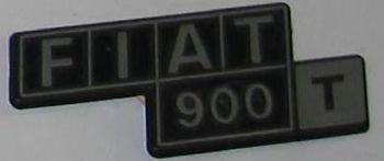 FIAT 900T - LOGO POSTERIORE