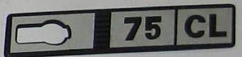 FIAT RITMO 75 CL - LOGO POSTERIORE