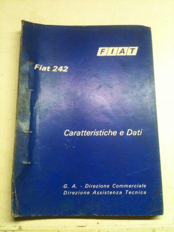 FIAT 242 LIBRETTO CATALOGO CARATTERISTICHE E DATI