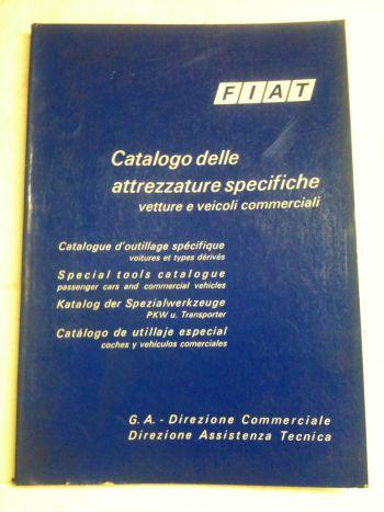 FIAT - CATALOGO DELLE ATTREZZATTURE SPECIFICHE VETTURE E VEICOLI COMMERCIALI ANNO '70