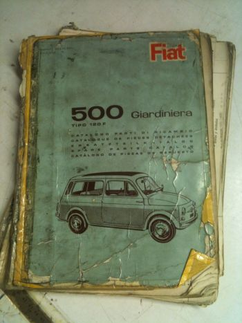 FIAT 500 GIARDINIERA TIPO 120F - CATALOGO PARTI DI RICAMBIO ANNI 60-70