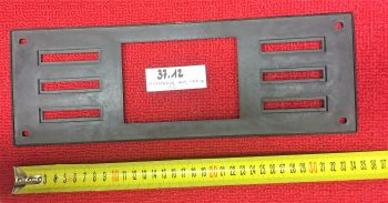 PORTATARGA ANTERIORE IN PLASTICA RETTANGOLARE ART. 37.012