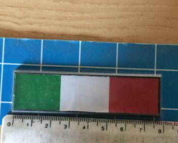 Adesivo Sticker Auto Tricolore Bandiera Italia 8x2 cm