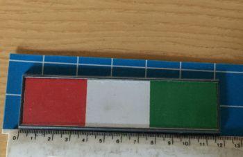 Adesivo Sticker Auto Tricolore Bandiera Italia 12x3 cm
